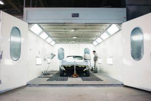 accident repair car spray booth